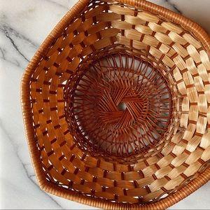 Vintage Bohemian Geometric Basket
